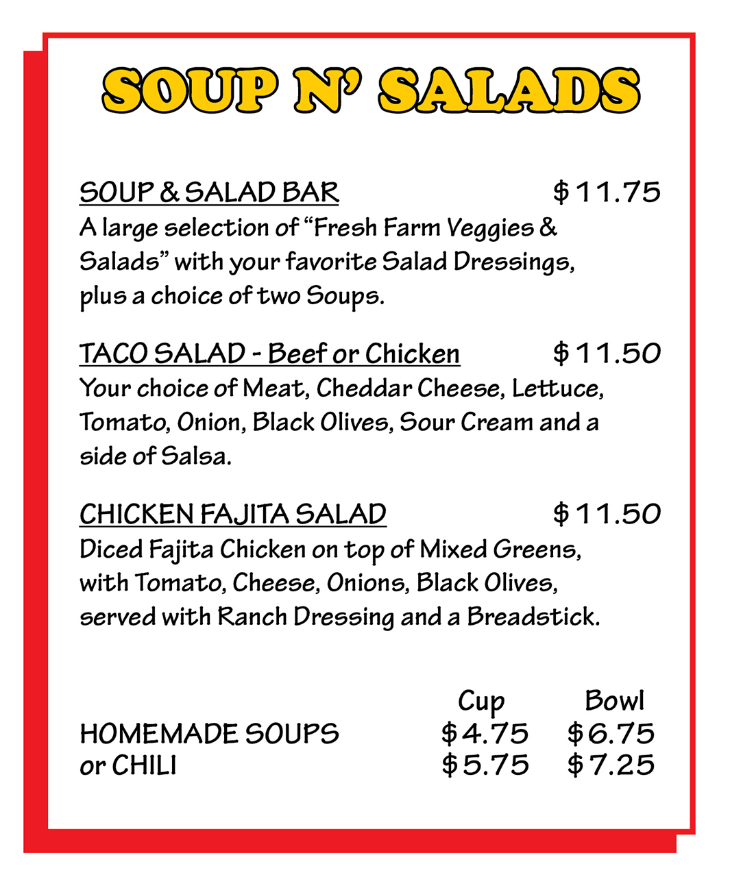 Soups and Salad